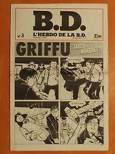 L'Hebdo de la B.D. N° 3 du 24/10/1977-Tardi-Manchette-Gros Dégueulasse-Pétillon