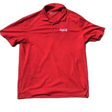 Nike Golf Dri-Fit Coca Cola Polo Golf Shirt Men's Size XL Red