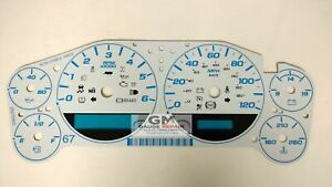 Custom White Gauge Face Overlay/Inlay for 2007-2013 Silverado Sierra Tahoe New