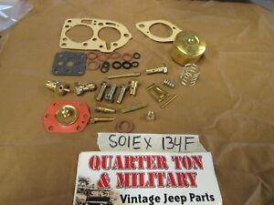 Jeep Willys Kaiser CJ3B CJ5 134F Solex Carburetor master rebuild kit
