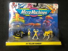 Micro Machines Mighty Morphin Power Rangers Set #4 YELLOW RANGER Galoob 1994 NEW