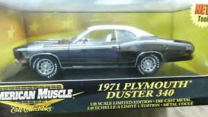 American Muscle ERTL 1971 Plymouth Duster 340 Black 1/18 Limited Edition MIB