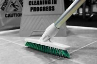 Grout Cleaning Angled Brush Long Handled Stiff Bristle Deck Floor Tile Scrub Gre