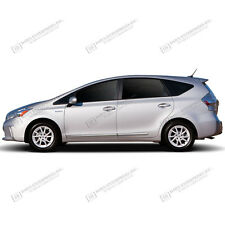 BODY SIDE Moldings LOWER CHROME Trim Mouldings For: TOYOTA PRIUS V 2012-2017