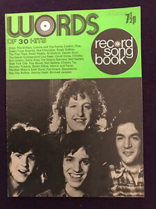RECORD SONG BOOK Words Of Pop Music Hits Sep 1973 PETER FRAMPTON Alvin Lee cover