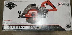 "Skilsaw SPTH77M-02 7-1/4"" TRUEHVL 48V Worm Drive Saw w/ Diablo Blade NEW IN BOX"