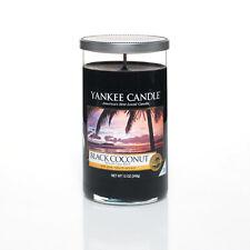 Yankee Candle Decor Medium Pillars - up to 95 Hours Burn Time Black Coconut