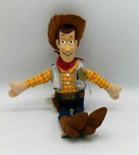 "Disney Store Woody 11"" Vinyl Face Bean Bag Plush Toy NWT"