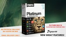 NERO 2019 PLATINUM CD/DVD/BLU-RAY BURNING 6-IN-1 + FULL VERSION GENUINE LICENSE