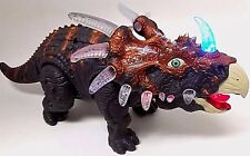WolVol Walking Triceratops Toy Dinosaur Flashing Lights & Roaring Sounds - VIDEO