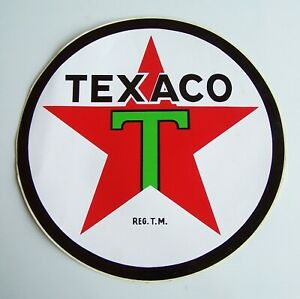 GENUINE VINTAGE 30cm TEXACO INC GAS STATION PUMP LOGO ADVERTISING PROMO STICKER