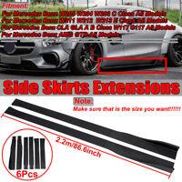 86.6'' Mattschwarz Seitenschweller SET Schweller für Mercedes W205 C63 AMG W204