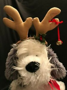 Christmas Pet Dog Antlers Headpiece Costume Size M 9 to 13 Pounds