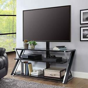"""Whalen Xavier 3-in-1 TV Stand for TVs up to 70"""", with 3 Display Options for Flat"""