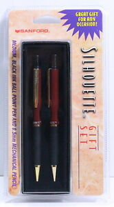 SANFORD SILHOUETTE Ball Point Pen and Mechanical Pencil (NEW, Burgundy)