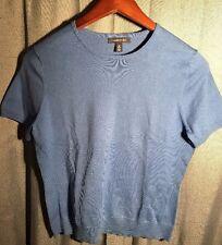 Lands End Short Sleeve Blue Sweater 10-12 M New
