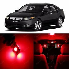 12 x Super Red LED Interior Light Package For Acura TSX 2009 - 2013 US Seller
