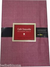 Burgundy Vinyl Tablecloth - Café Deauville Vinyl Tablecloth Burgundy -Wipe Clean