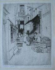 "FREDERICK CHARLES RICHARDS BRITISH ETCHING ""ST. GEORGES COURT ADELPHI"" 1924"