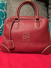 CAROLINA HERRERA AUTHENTIC BRAND NEW WITH TAG AND AUTHENTICITY CARD LEATHER BAG
