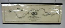 """Map of the Mississippi River by Nicholas King c1810, 28""""x10"""" laminated, hanging"""