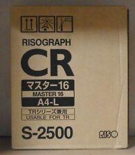 Riso Risograph S-2500 Master 16 Risograph CR  A4-L CR 1610 1610EP TR 1510 1530