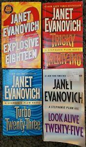 JANET EVANOVICH STEPHANIE PLUM TITLES PAPERBACK 4 BOOK LOT NOVELS 18, 22, 23, 25