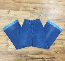 Rare Vtg 70s Turtle Bax Jeans High Waist Flare/Bellbottom Women's 9/10 Waist 24""