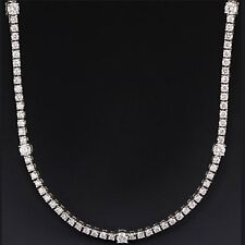 Certified 5.24Ct Diamond Designer Tennis Necklace in 18k White Gold