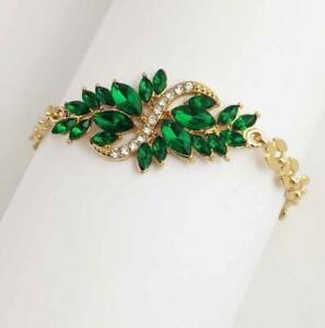 Enamel Jewelry Betsey Johnson Rhinestone Flowers symmetry Golden Chain Bracelet