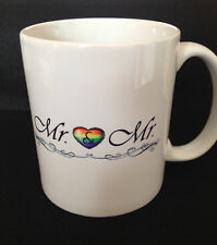 """Mr & Mr"" Married lesbian / gay PRIDE 11oz Coffee Mug FREE & FAST SHIPPING!"