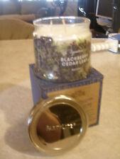 Partylite Blackberry Cedar Leaf Signature 3-wick Jar Candle Brand New Nib