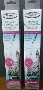 Genuine OEM Whirlpool Refrigerator Ice Water Filter PUR 4396508 Maytag NEW 2 PCK