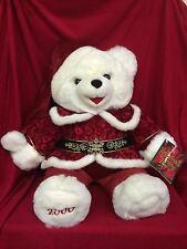 "2000 Snowflake Christmas Collectible Teddy Bear With Tag 22"""