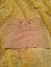 Wet Seal Cream Beige Tweed Knit Mini Skirt Sz Small S Botton Detail Back Zipper