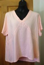 STYLE INC PINK WIDE V NECKED SHORT SLEEVED TOP - SIZE 20-22