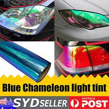 30cm x 180cm Chameleon Neo Blue Headlight Taillight Fog Light Tint Car Sticker