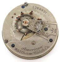 c1888 WALTHAM 18S 15J MENS POCKET WATCH MOVEMENT.