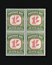 Vintage: Australia 1958 Og Nh Blk 4 1-6 Scott # J94 $116 Lot #2270B