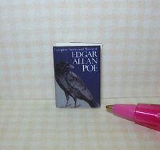 Miniature Edgar Allan Poe Book, Printed Pages, Dust Cover: DOLLHOUSE Book 1/12
