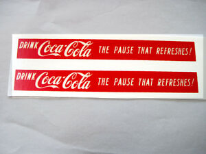 Replacement water slide decal set for Buddy L GMC Coca Cola truck