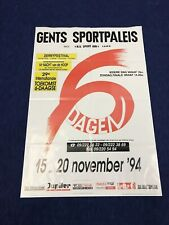 Gent Ghent 6 Days 1994 Vintage Cycling Poster velodrom bicycle track racing