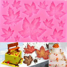 Maple Leaf Shape Silicone Mold Fondant Cake Decor Chocolate Baking Soap Ice DIY
