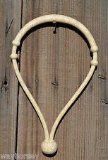 """Jose Ortiz 3/8"""" All Natural Rawhide Bosal - Deluxe 18 Plait - Round Knot"""