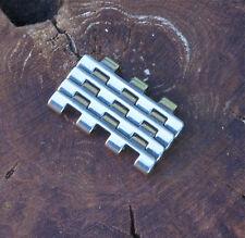 NSA vintage watch band Swiss Novavit 4 polished 7-row spare links & 2 link pins
