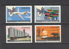 Zimbabwe 1986 Aircraft/Raptor/Rhino/Flags 4v set n18992
