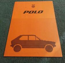 1978 VW POLO HATCHBACK UK COLOUR FOLDER BROCHURE
