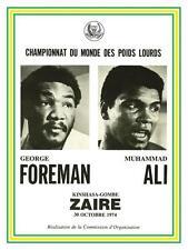 Muhammad Ali  vs George Foreman *POSTER*  BOXING 1974 Heavyweight Champ Fight