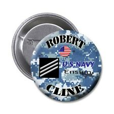Navy Pin 1.5 Inch Personalized Pin with the Name and Rank of Choice