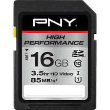 PNY 16GB High Performance Class 10, U1 SD Flash Card- (P-SDHC16GU185-GE)